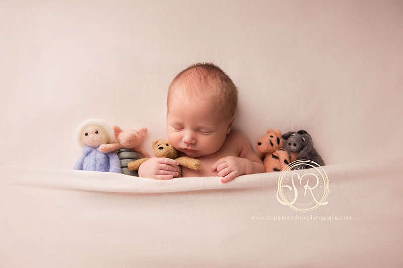 Felted stuffies for newborn sessions meet off my hooks seattle newborn photographer stephanie rubyor photography